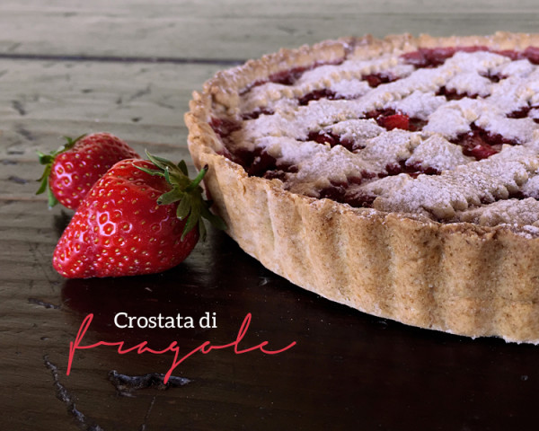 crostata vegan di fragole