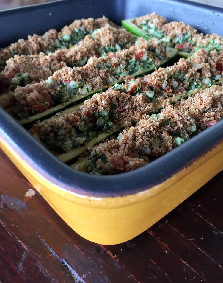 zucchine ripiene con sorgo