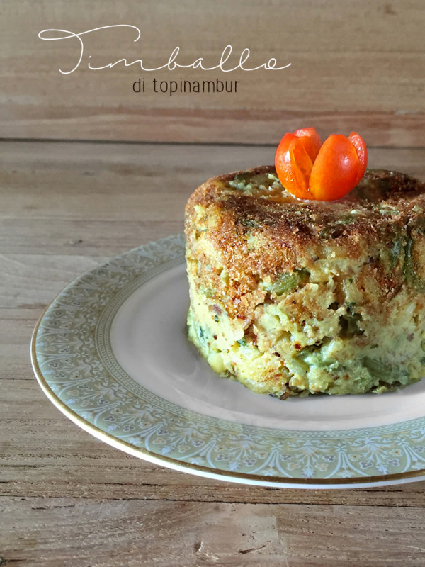 Mini timballo vegan di topinambur