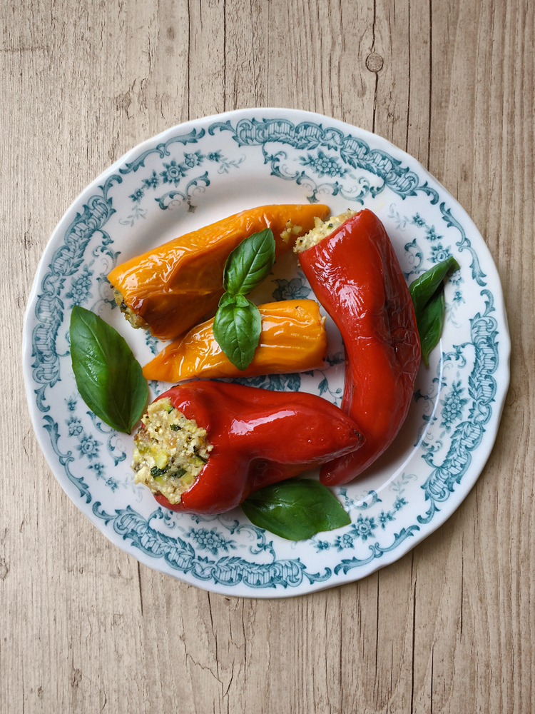 peperoni ripieni alle erbe aromatiche