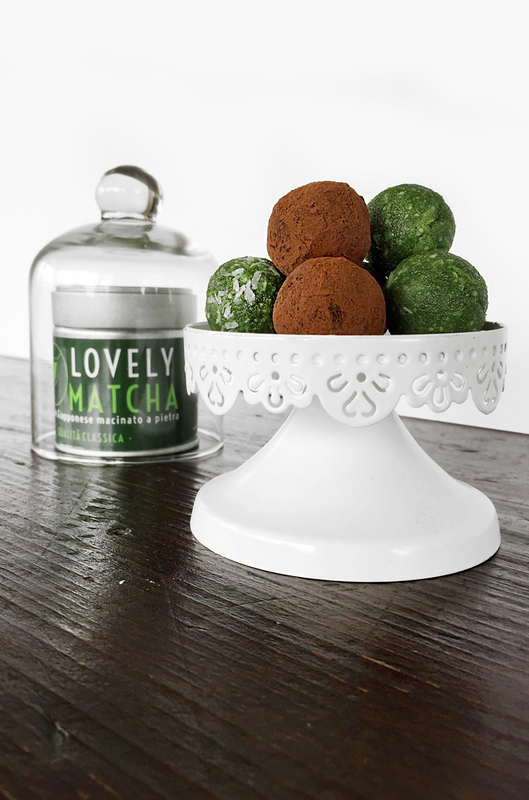matcha truffles with lovely matcha