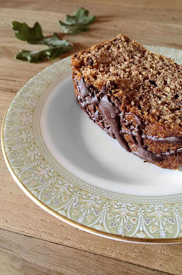 vegan plumcake pere e cioccolato