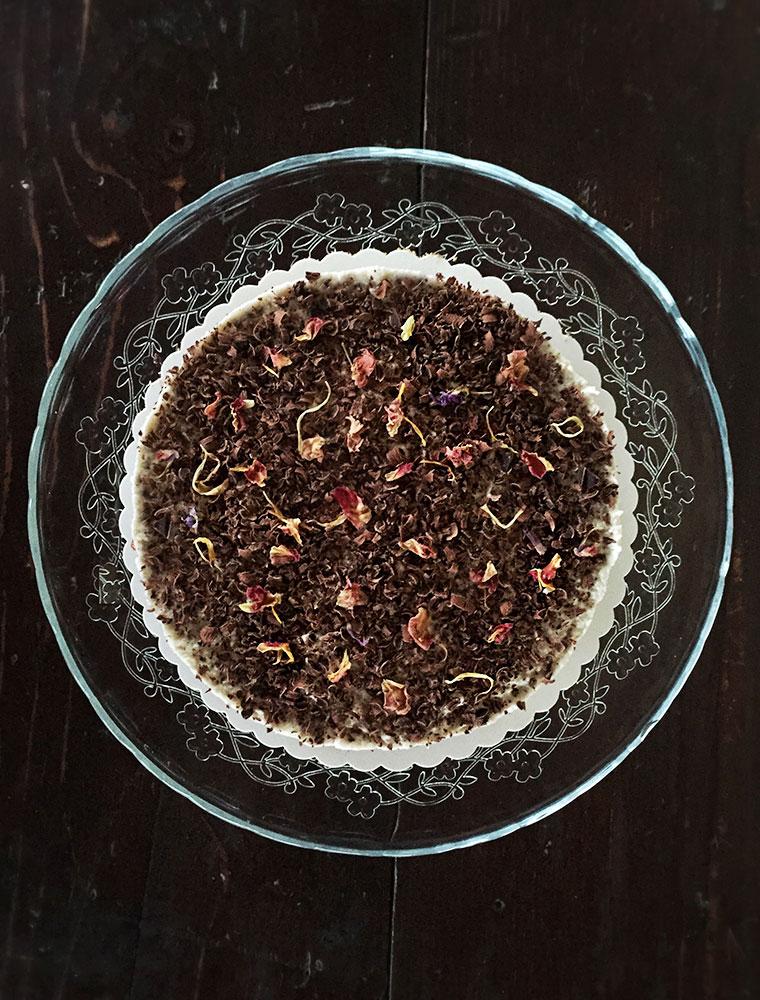 cheesecake vegan con anacardi