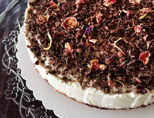 cheesecake vegan con anacardi