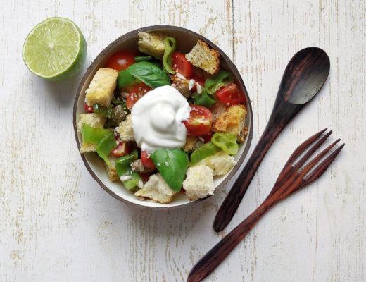 Panzanella con peperoni arrostiti
