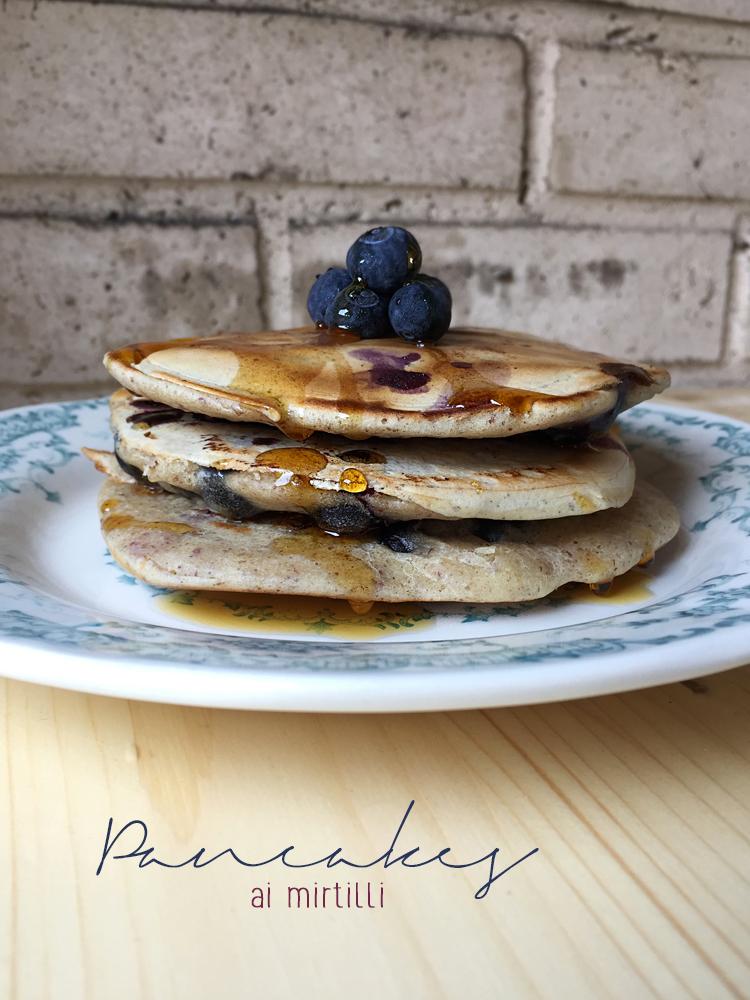 pancakes vegan ai mirtilli