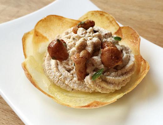 cestini di patate con funghi