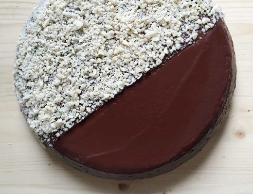 Torta al cioccolato e arancia cotta in padella con Crafond