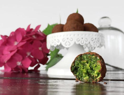 matcha truffles with lovely matcha