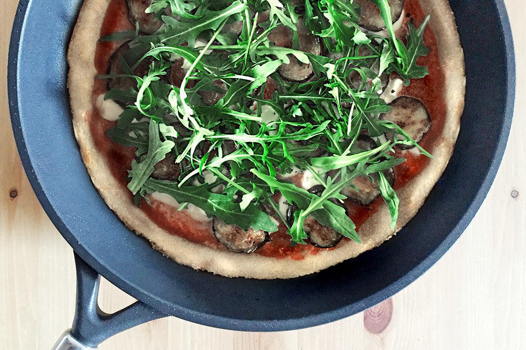 pizza di quinoa ricetta vegana con Crafond