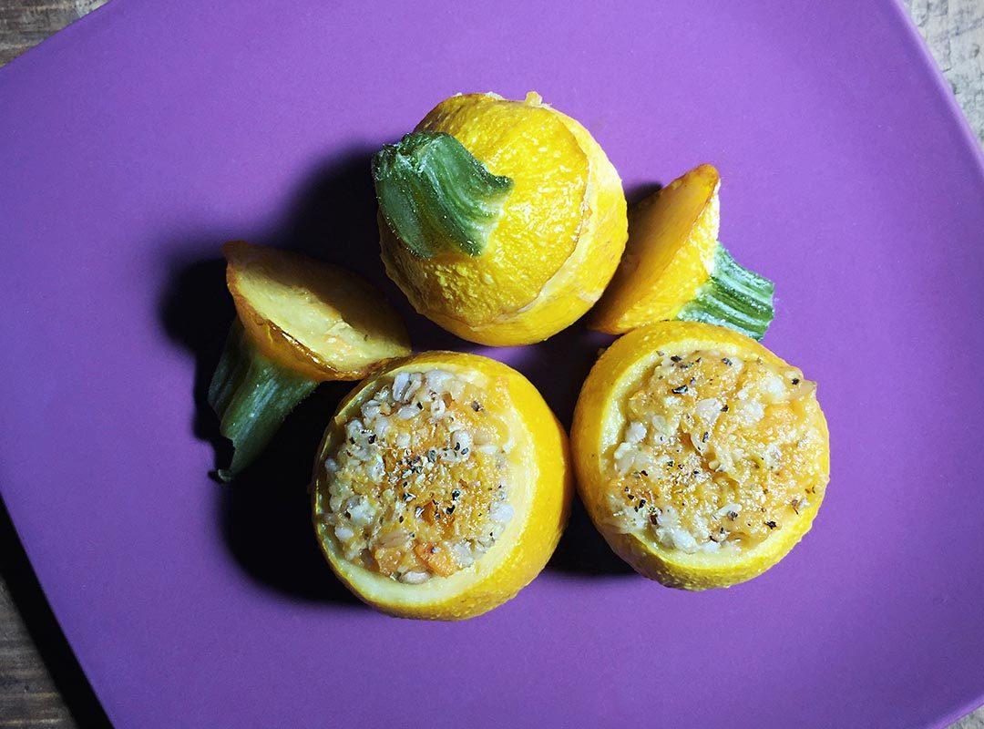 zucchine gialle ripiene