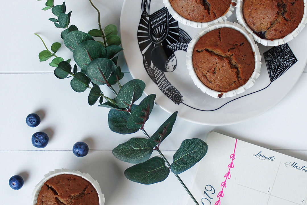 muffin mirtilli cioccolato vegan