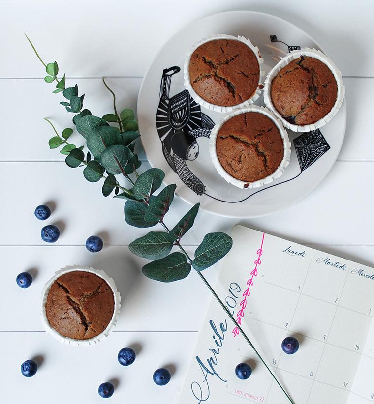 muffin mirtilli cioccolato vegan