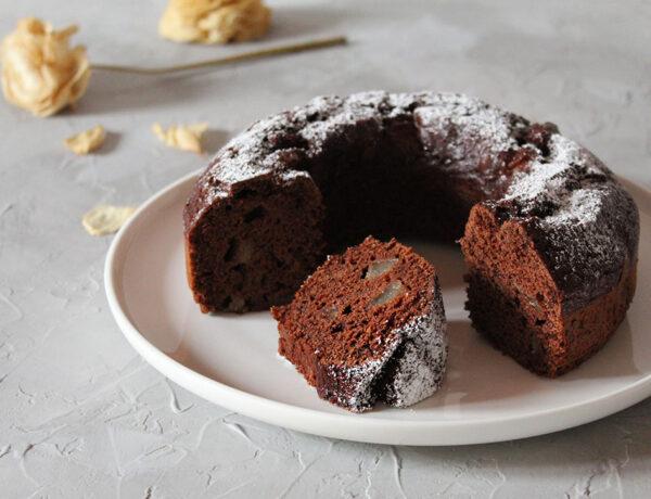 torta pere cioccolato vegan